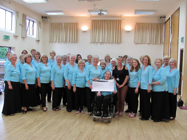 Summer Concert - Presentation of Cheque to Step by Step